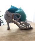 Srebrne buty taneczne, buty ślubne do tańca (5)