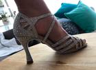 Srebrne buty taneczne, buty ślubne do tańca (6)