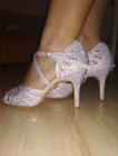 Srebrne buty do tańca, wygodne buty na wesele do tańca (4)