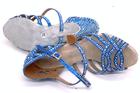 niebieskie buty taneczne buty do tańca buty z cyrkoniami