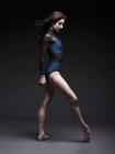 Granatowe trykoty, body z długim rękawem i siateczką (balet, gimnastyka) (4)