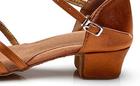 Srebrne buty do tańca dla dziewczynek (latino, taniec towarzyski) - obcas 3,5 cm  (2)