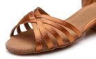 Srebrne buty do tańca dla dziewczynek (latino, taniec towarzyski) - obcas 3,5 cm  (5)
