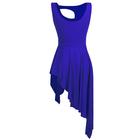 Niebieska sukienka trykoty z majtkami do baletu i gimnastyki/ balet body (3)