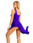 Niebieska sukienka trykoty z majtkami do baletu i gimnastyki/ balet body (2)