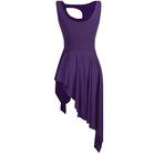 Fioletowa sukienka trykoty z majtkami do baletu i gimnastyki/ balet body (3)