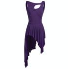 Fioletowa sukienka trykoty z majtkami do baletu i gimnastyki/ balet body (4)
