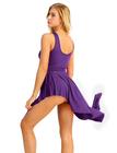fioletowe trykoty do gimnastyki, strój do gimnastyki, trykoty, balet, gimnastyka