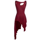 Bordowa sukienka trykoty z majtkami do baletu i gimnastyki/ balet body (4)
