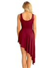 Bordowa sukienka trykoty z majtkami do baletu i gimnastyki/ balet body (2)